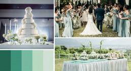 ธีมแต่งงานสีเขียวมิ้น